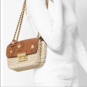 MK designer purse nwot acorn crochet